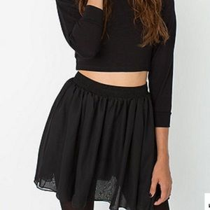 [american apparel] Chiffon Mini Skirt XS/S